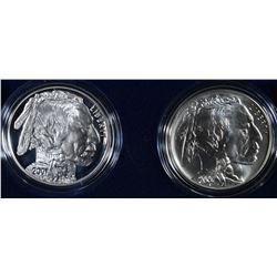 2001 AMERICAN BUFFALO PF & UNC COMMEM DOLLARS