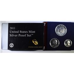 U.S SILVER PROOF SETS: 2011 & 1976 40% 3-PIECE