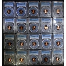 5 each PCGS PR69DCAM LINCOLN CENTS;