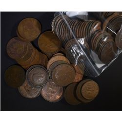 100-LARGE FOREIGN COPPER COINS DIFFERENT COUNTRIES