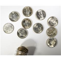 BU ROLL OF 1944-P SILVER JEFFERSON NICKELS