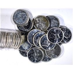 MIXED DATE ROLL OF CANADIAN SILVER QUARTERS