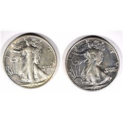 2-1942-S WALKING LIBERTY HALF DOLLARS, CH BU