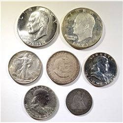 COLLECTORS COIN LOT: QUARTER, HALVES, & DOLLARS