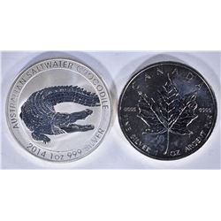2011 & 2014 CANADIAN MAPLE LEAF COINS