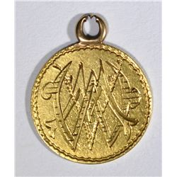 $1.00 GOLD LIBERTY T-3 LOVE TOKEN