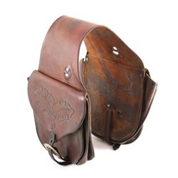 Carved Leather Western Saddlebags Livingston MT