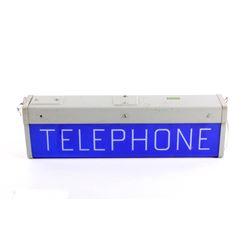 Telephone Booth Lighted Sign