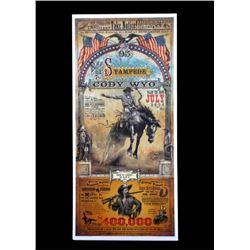 Buffalo Bill Cody Stampede Poster by Bob Coronato