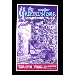 Yellowstone Park Snowmobile Tours Poster