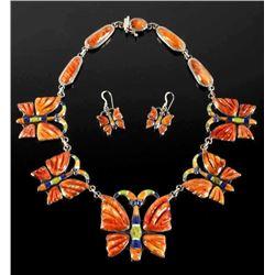 K Smith Navajo Spiny Oyster Butterfly Set RARE