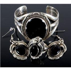 R. Kelly Navajo Sterling & Black Onyx Jewelry Set