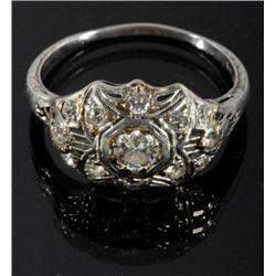 Edwardian Era Platinum & Diamond Ring c. 1900-