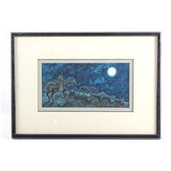 Original Tom Saubert Framed Watercolor Painting