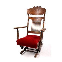 168Voss Inn early 1900's Glider Rocking Chair