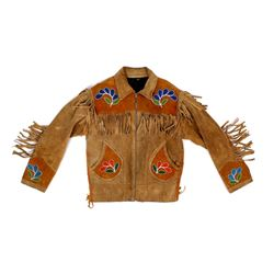Native American Beaded Buckskin Jacket