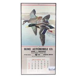 Livingston, MT Home Automobile Calendar c. 1942