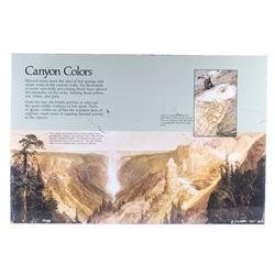 Porcelain Enamel Yellowstone Canyon Infograph