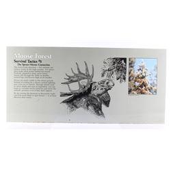 Porcelain Enamel Yellowstone Park Moose Info Sign