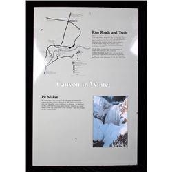 Porcelain Enamel Yellowstone Canyon in Winter Map