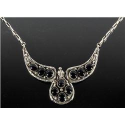 Eugene Belone Navajo Silver & Onyx Necklace