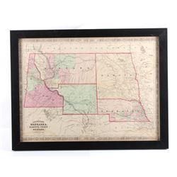 1865 Montana Territory Map