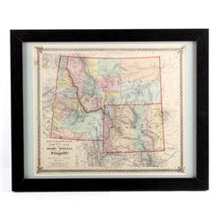 1873 Montana Territory Map