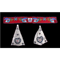 Ojibwa Beaded Belt & Dance Shirt Drops