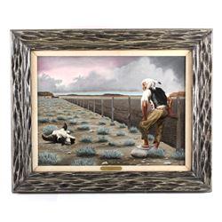 K. Fuller Framed Oil on Canvas Painting