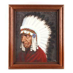 Original K. Fuller Framed Oil on Canvas Painting