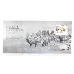 Porcelain Enamel Yellowstone Elk Information Sign