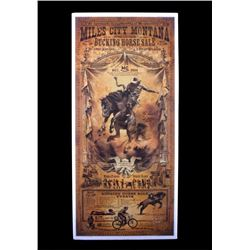 Miles City Montana Bucking Horse Sale Poster