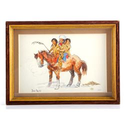 Original Dave Powell Framed Watercolor Painting