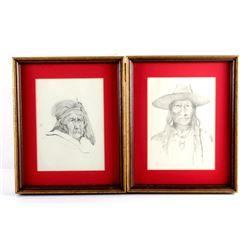 Original Tom Sander Indian Pencil Sketches