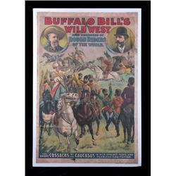 Buffalo Bill's Wild West Advertising Poster