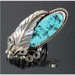 Navajo Sterling Silver & Morenci Turquoise Ring