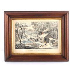 Original 1870 Currier & Ives Framed Lithograph