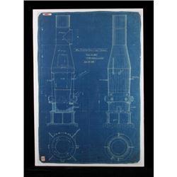 1892 Anaconda Copper Smelting Furnace Blueprint