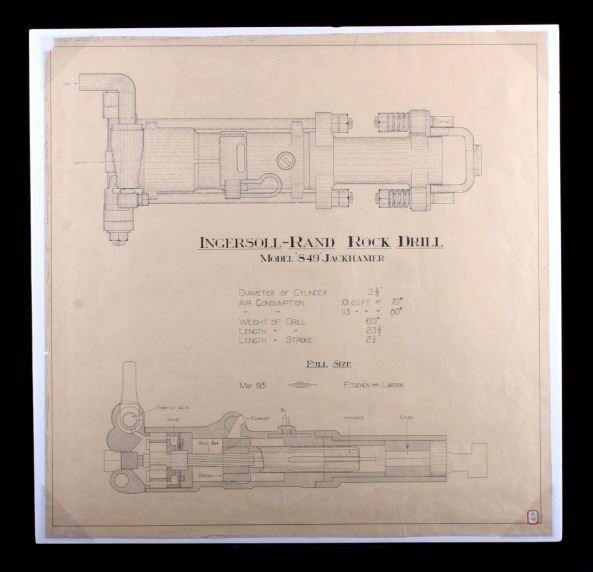 1931 Ingersoll-Rand Rock Drill Schematic Drawing on pressure regulator schematic, rpd schematic, bulldozer schematic, pressure washer schematic, boost pedal schematic, generator schematic, excavator schematic, aqueduct schematic, bobcat schematic, trailer schematic, flashlight schematic, overdrive schematic, computer schematic, compressor schematic, ak-47 schematic, backhoe schematic, m4 schematic, simple distortion pedal schematic, joystick schematic, paver schematic,