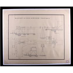 Early 1900's Mining Tramway System Schematic