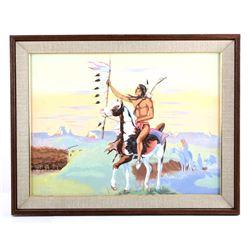 Original Paha Ska Pastel on Board Painting