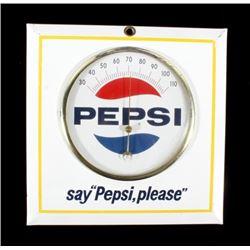 "Pepsi - ""Pepsi, please"" Advertising Thermometer"