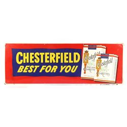 Chesterfield Cigarettes Embossed Advertising Sign