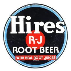 Hires Root Beer Embossed Advertising Sign