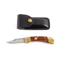 Buck 112 Custom Switchblade Knife w/ Scabbard