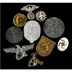 Nazi War Effort Tinnie Pins & Badges (10)