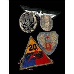 US & Nazi World War 2 Era Badges & Patches