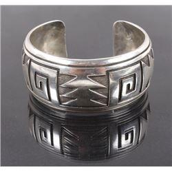 Navajo Sterling Silver Engraved Bracelet