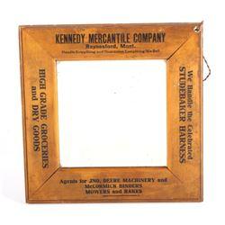 Kennedy Merc. Advertising Mirror Raynesford Mont.