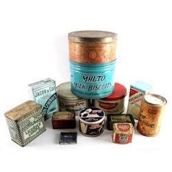 Collection Of Early Candy And Cracker Tins